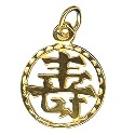 Amante 9ct Gold Solid Chinese Good Luck Charm