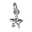 Amante Solid Sterling Silver Star Charm Pendant