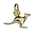 9ct Gold Small Kangaroo Charm Pendant