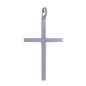 Amante Sterling Silver Italian Hollow Rectangular Cross Pendant