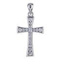 Amante Sterling Silver Swarovski Crystal Cross Pendant