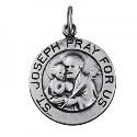 Amante Sterling Silver St Joseph Pendant