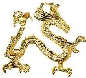 Amante 9ct Gold Large Solid Chinese Dragon Charm