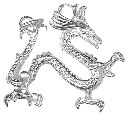 Amante Sterling Silver Large Solid Chinese Dragon Charm