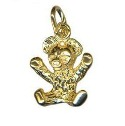 9ct gold solid Large teddy bear charm pendant