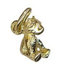 9ct gold solid small sitting  teddy bear charm pendant