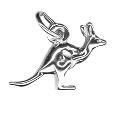 Sterling Silver Medium Flying  Kangaroo Charm Pendant