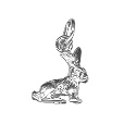 Sterling Silver Rabbit Charm Pendant