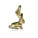 9ct Gold Rabbit Charm Pendant
