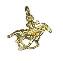 9ct Gold Horse and Jockey Charm