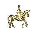 9ct Gold Horse Charm