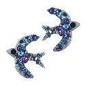 Sterling Silver Swarovski Crystal Bluebird Stud Earrings