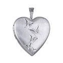 Sterling Silver Butterfly Journey Heart Locket - 20mm