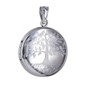 Amante Sterling Silver Round Tree of Life Locket