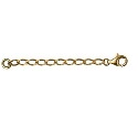 Amante 9ct Yellow Gold Long Link Diamond Cut Curb Extender chain
