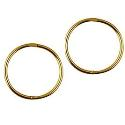 Amante 9ct gold solid plain medium sleeper earrings 12mm