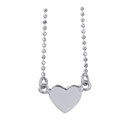 Amante Sterling Silver Heart pendant with Fine Ball Chain Necklace