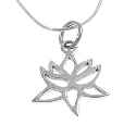 Amante Sterling Silver Lotus Pendant