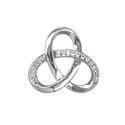 Amante Sterling Silver Swarovski Crystal Love Knot Pendant