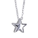 Amante Sterling Silver Star Pendant with Matching Sterling Silver Necklace