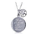 Sterling Silver 'The love of a family is life's greatest blessing' Pendant with Tree of Life Charm and Necklace