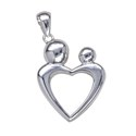 Amante Sterling Silver Mother and Child Pendant