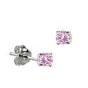 Sterling Silver October Birthstone Stud Earrings