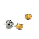 Sterling Silver November Birthstone Stud Earrings