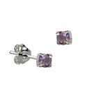 Sterling Silver June Birthstone Stud Earrings