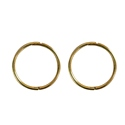 Amante 9ct gold solid plain English Sleeper Earring 13mm (available in Yellow, White and Pink(Rose) Gold