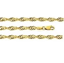9ct Solid Gold Singapore Twist Bracelet
