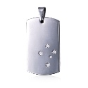 Amante Stainless Steel  Men's Southern Cross Dog Tag Pendant