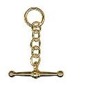 Amante 9ct Gold Drop T-Bar Pendant