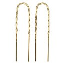 9ct Gold Italian Crafted Thread Earrings