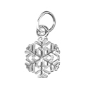 Amante Sterling Silver Snowflake Charm Pendant