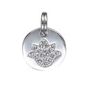 Amante Sterling Silver Lotus Flower Disc Pendant
