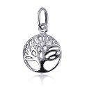 Sterling Silver Round Cut Out Tree Of Life Pendant