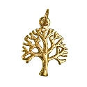 Amante 9ct Yellow Gold Tree of Life Pendant