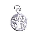 Sterling Silver Tree Of Life Pendant Disc Pendant