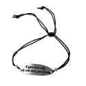 Poetic Silver and Silk Thread Bracelet