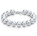 Amante Sterling Silver Polished 10mm Ball Bracelet