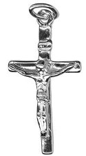 9ct White Gold Crucifix Pendant