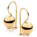 9ct Gold 8mm Euroball  Earrings
