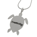 Poetic Pieces Silver Turtle Pendant