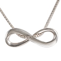 Amante Sterling Silver Infinity Pendant