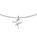 Silver Open Curb Necklace-40cm