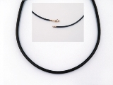 Neoprene Necklace 3mm with 9ct Gold Fittings - 42cm