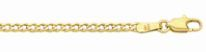9ct Solid Gold Round Curb Necklace - 45cm