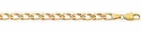 9ct Gold Oval Double Curb Diamond Cut Necklace - 45cm