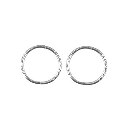 Sterling Silver Solid Small Twist Sleeper Earrings -  10mm